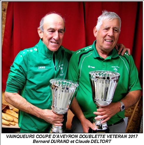 Coupe doublette vétérans