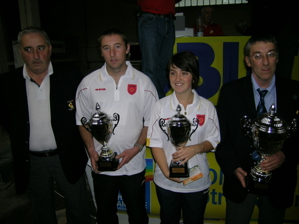 Caroline Leblond - Fabrice Caulet (Sébazac) Champions de Ligue 2009