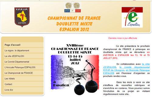 Le site évènementiel du France Doublette mixte d'Espalion