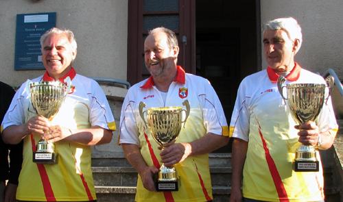 Norbert PARDO, Jean Papaix et Dominique VIEIRA (Pétanque Réquistanaise)