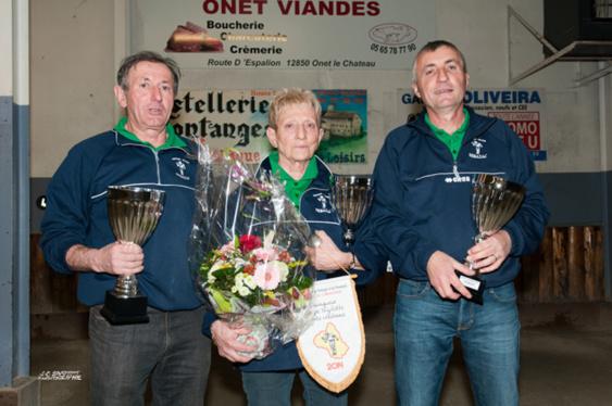 Champions: Jean-Claude REYNES / Monique ARNAL / Bernard CITERNESCHI (Sébazac PC)
