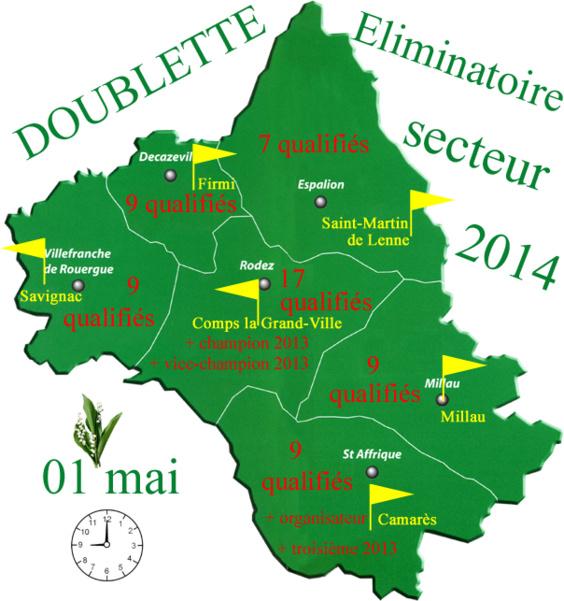 Eliminatoire doublette 2014