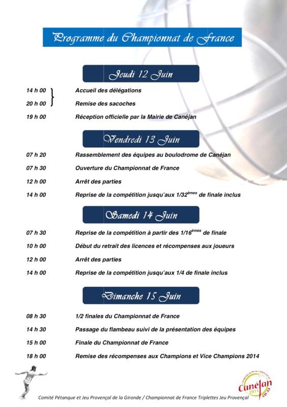 69me Championnat de France Triplette Jeu provençal