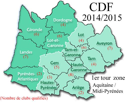 CDF 1er Tour zone Aquitaine / Midi-Pyrénées