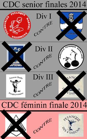 Finales CDC senior et féminin 2014