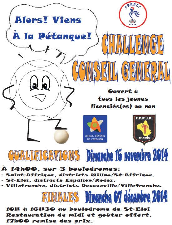 Challenge Conseil Général 2014
