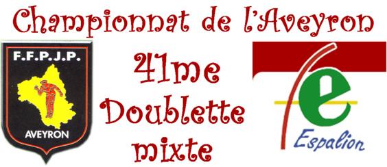 41me championnat de l'Aveyron Doublette mixte