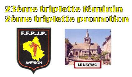 Championnat Triplette féminin et Triplette promotion