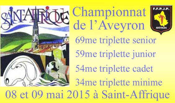 Championnat triplette finales