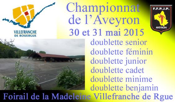 Finales 2015 Championnat de l'Aveyron Doublette