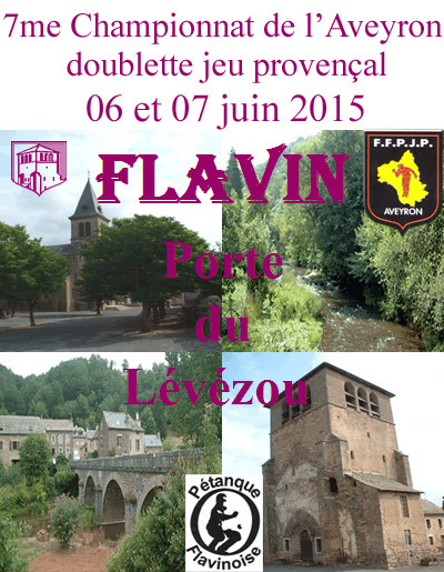7me Championnat de l'Aveyron Doublette jeu provençal