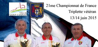 21me Championnat de France Triplette vétéran