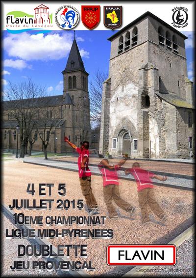 Xème Championnat de ligue Midi-Pyrénées Doublette jeu provençal