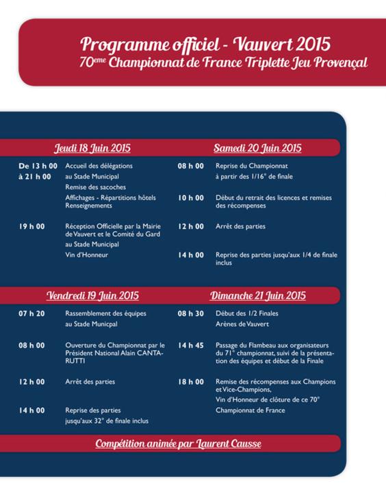 70me Championnat de France Triplette Jeu provençal