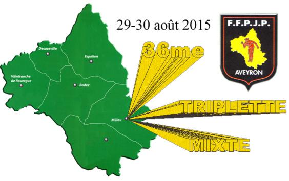 36me championnat de l'Aveyron Triplette mixte