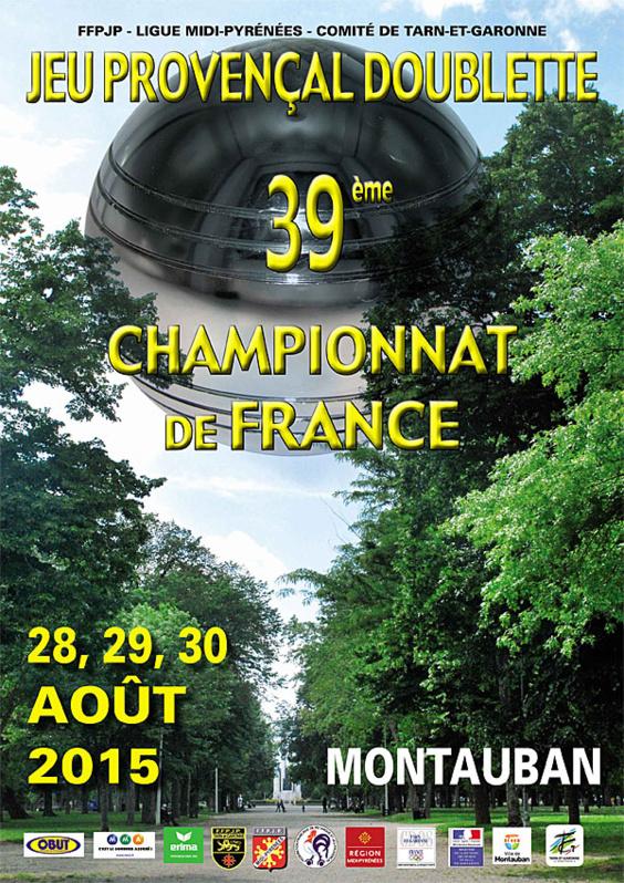 39me Championnat de France Doublette Jeu Provençal (màj21/08)