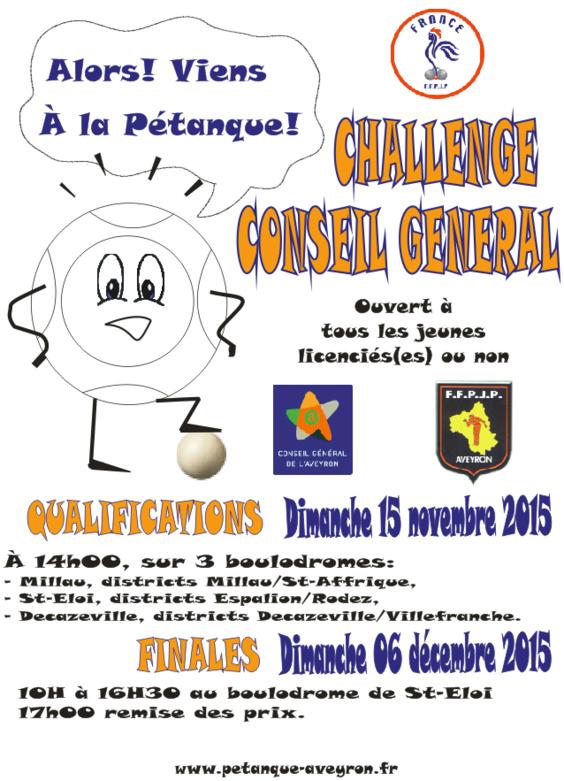 Challenge Conseil Général jeune 2015