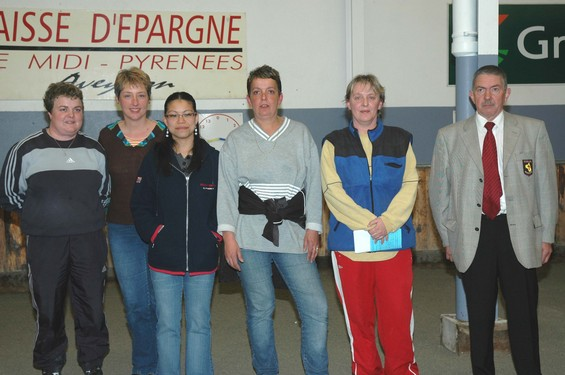 Nathalie Bujna, Fabienne Gladin, Aurélie Tériot, Marie Note, Nathalie Rodes et André Algans