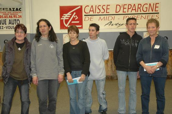 Sabine Falguières, Véronique Bories, Marie Maurel, Nelly Carcelés, Marielle Julien, Monique Arnal