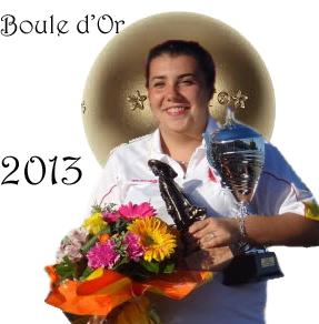 Aurélie BORIES Boule d'Or 2013 (photo d'archive)