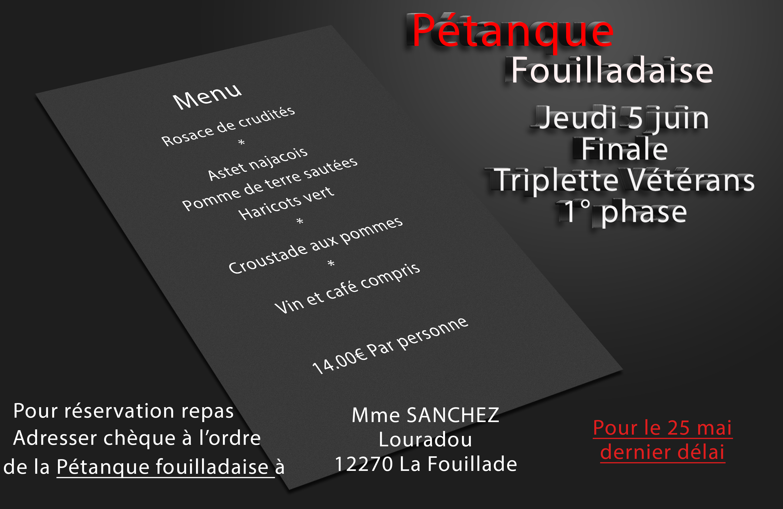 -1ère phase- Championnat de l'Aveyron Triplette vétéran 28me (màj06/06)