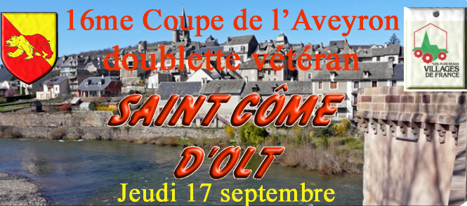 16me Coupe de l'Aveyron doublette vétéran (màj18/09)
