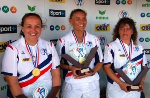 Florence Schopp, Angélique Papon et Marie-Christine Virebayre championnes de France 2008