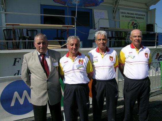 La délégation aveyronnaise Jacques Edouard, André Routaboul, Guy Féral et Francis Viargues