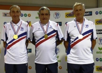 Pierre Dubost, Jean-Claude Peyron et Jean-Marie Boyer Joly Champions de France vétéran 2008