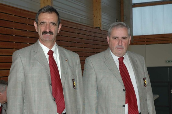 Michel Gantou (Président sortant) et Jacques Edouard (nouveau Président)