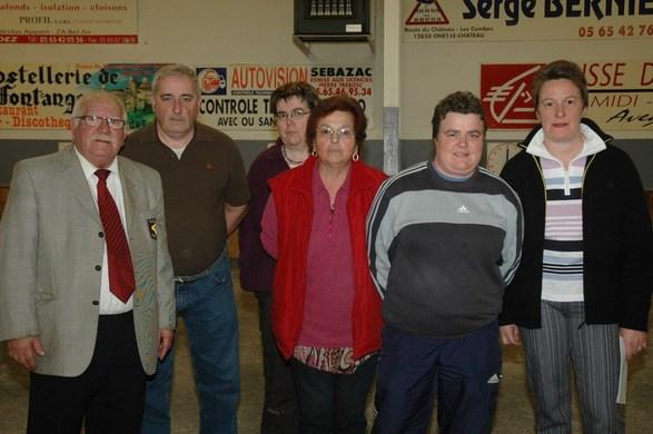 Lucien Manginot, Jacques Edouard (Président), Marie-Christine Salvat et les lauréates 2009 : Christiane Madeira, Nathalie Bujna et  Magali Camboulas