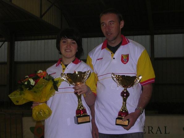 Caroline Leblond - Fabrice Caulet  Champions 2009