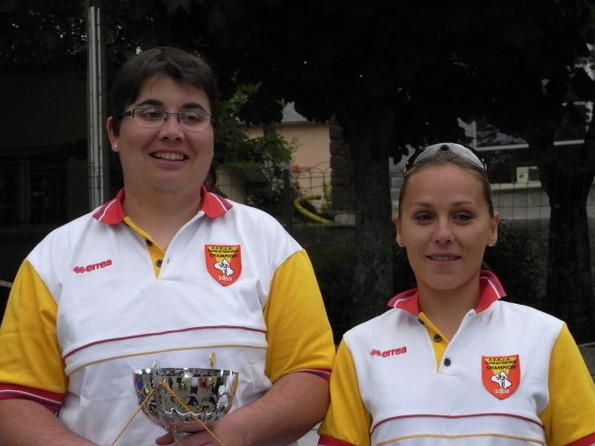 Championnes féminines Anne Gelis - Elodie Léonte (Creissels)