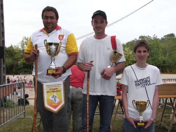 Podium seniors 2009