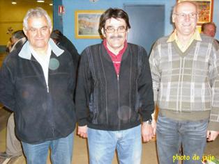 Alain Delagnes, Christian Lafon, Jean-Claude Catusse (photo du 25/03/09)