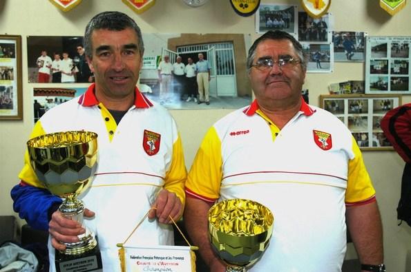 Les champions: Gérard BOUSQUET - Jacky SAINT-MARTIN