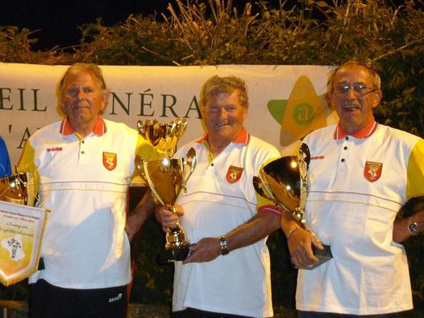 Les vainqueurs: Robert MARRO - Henri ROUSTAN - Gilbert VINAS