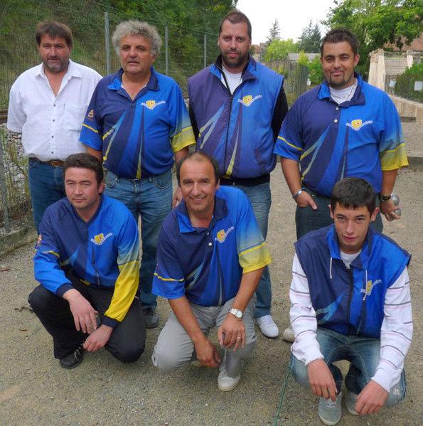 La formation villefranchoise lors du 3 octobre 2010
