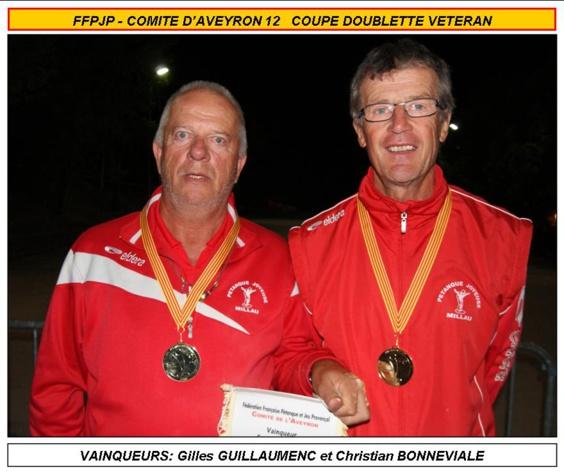 Coupe doublette vétérans 2018