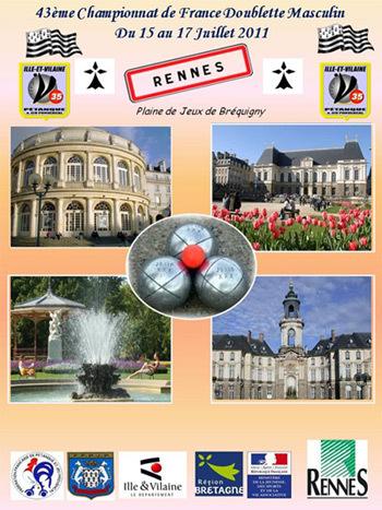 Eliminatoires doublette 2011, Les qualifiés!