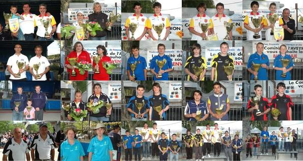 Tous les podiums doublette 2011 (photos et montage JC Savoyant)