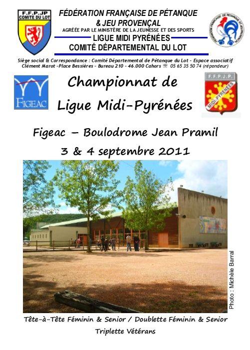 Résultats du Championnat de Ligue Midi-Pyrénées Figeac 3&4/09