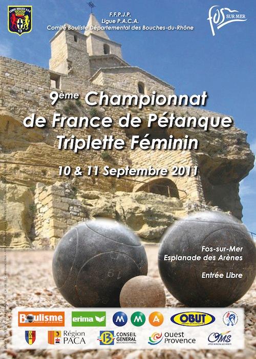 Bilan 1ère journée IXme Championnat de France triplette féminin