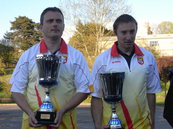 Les champions seniors Lagarde - Caulet (Sébazac PC)