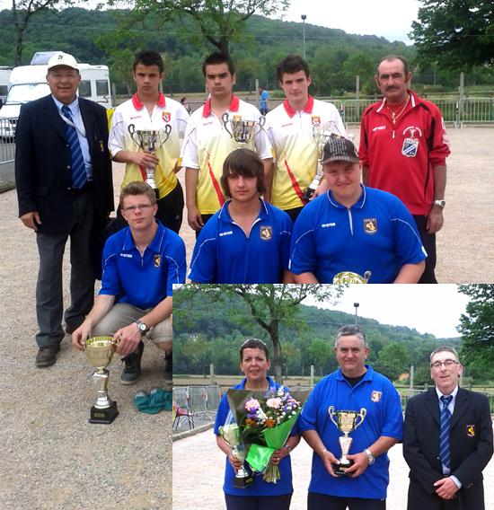 Champions / vice-champions junior et vice-champions doublette mixte