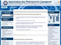 Site  de l' Association des Pétanqueurs Cassagnols