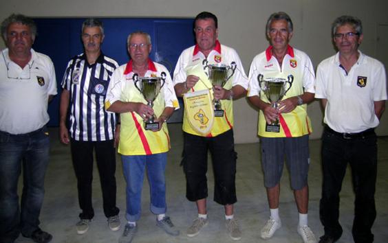 Les champions triplette vétéran