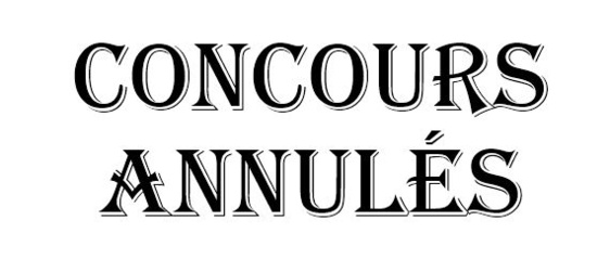 Calendrier concours Juillet 2020