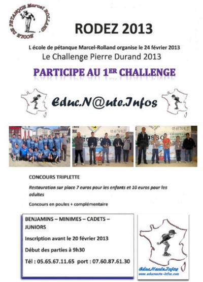 Challenge Pierre Durand 2013