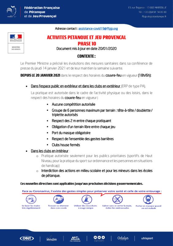Activités Pétanque Phase 10